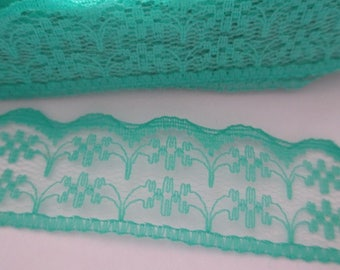 1 meter Ribbon lace Green 20mm