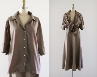faded earthen button down - oversized