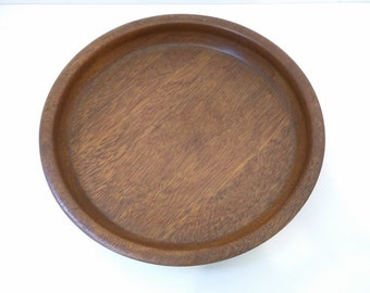 Vintage Brown Wooden Rustic Bowl Tray, Kitchen Decor, Home Decor, Country Home Decor