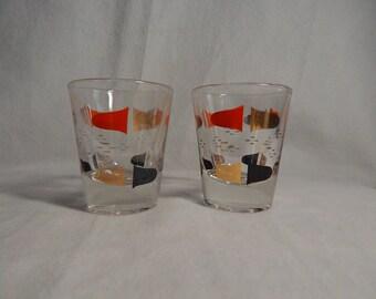Vintage Mod Shot Glasses