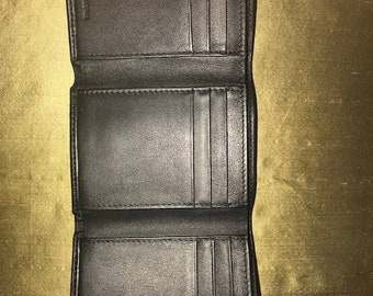 Compact top quality  leather mens wallet