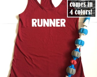 Womens Running Tank Top - Runners Tank - Womens Running Top - Runners Shirt - Simple Runner Top - Womens Tank Top - Runner