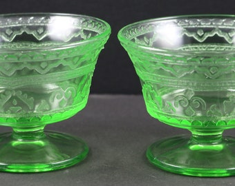 Set of 2, Patrician aka Spoke Green Sherbets