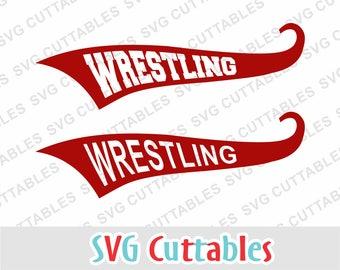 Wrestling svg, Wrestling text tails, SVG, EPS, DXF, Wrestling cut file, Silhouette, Cricut cut file, Digital download