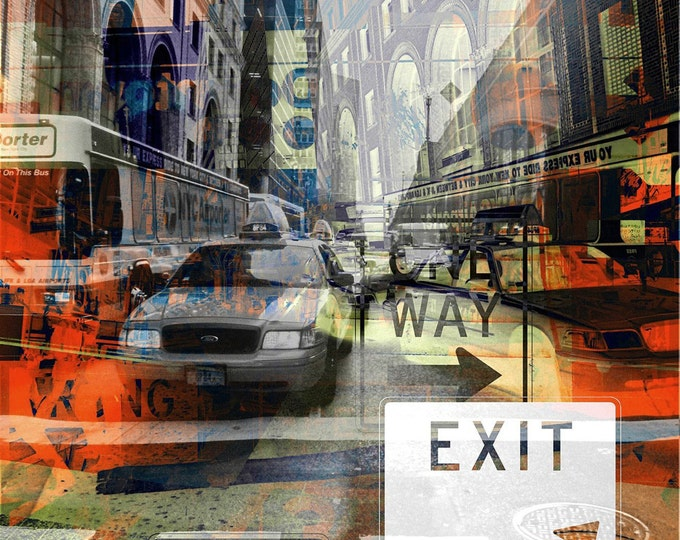NEW YORK URBAN V by Sven Pfrommer - 130x100cm Artwork is ready to hang