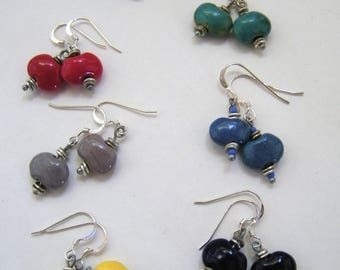Sterling Kazuri earrings