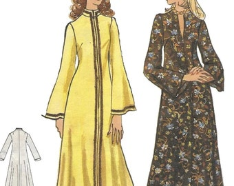 Vogue 8446 Misses' 70s Lounge Tent Dress Sewing Pattern Size 16 to 18 Bust 38 40