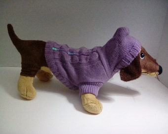 Lavender doggie sweater hoody with sequined design on the back-dog coat dog sweater doggie clothes  pet outerweardoggie sweatshirt