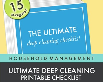 30% OFF SALE | Deep Cleaning Checklist | 15 page Printable Checklist | Letter Size | Instant Download