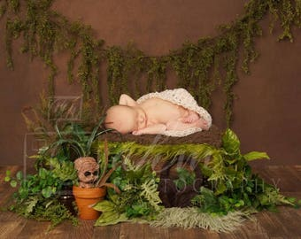 DIGITAL Newborn Backdrop Harry Potter Mandrake Baby. One of a kind prop!