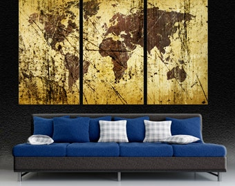 Abstract deep red world map canvas print wall art 3 panel abstract buff kobicha world map canvas print wall art 3 panel split triptych gumiabroncs Images