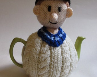 Cricketer Tea Cosy Knitting Pattern from TeaCosyFolk