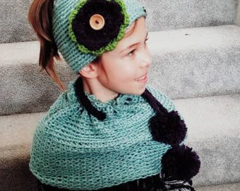 Girls convertible cowl scarf capelet