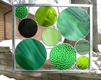 Going Green - Stained Glass Circle Panel
