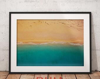 Aerial View, Beach Decor Print, Beach Decor Coastal, Beach Wall Art, Wall Art Print, Modern Beach, Minimalist, #BeachCollection Nº 1
