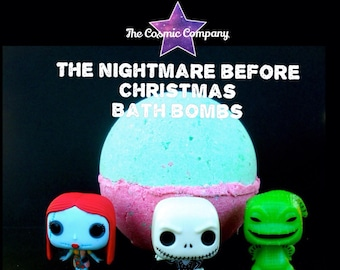 """Big Dippers"""" The Nightmare Before Christmas surprise bath bomb"""