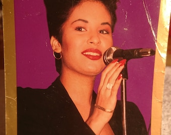 Selena Quintilla  Collectors Portrait Picture age 14 & Picture with her Band Age 16