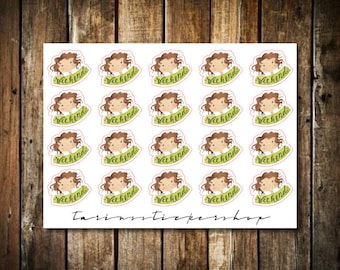Weekend - Cute Brunette Girl - Functional Character Stickers