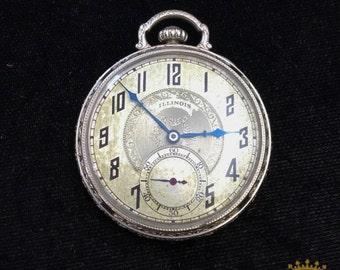 Illinois OF 17 jewel Pocket Watch c.1926 size 8