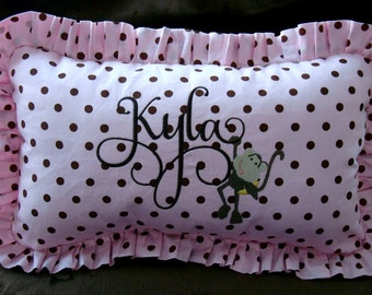 Baby Pillow - Embroidered Pillow - Personalized Pillow - 12 x 17 - Baby Pillow - Glider Pillow - Nursery Pillow