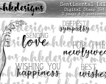 Sentimental Lily Digital Stamp Set