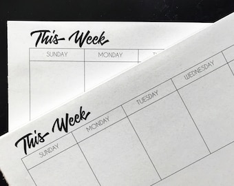 Week at a Glance Tear-off Desk Calendar