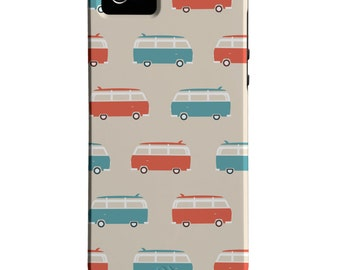 VW Bus iPhone Case - Surfer iPhone Case - Volkswagen iPhone 6 Case - VW Van iPhone Case - iPhone 6 Plus Case - Cute iPhone Cover - Surfboard