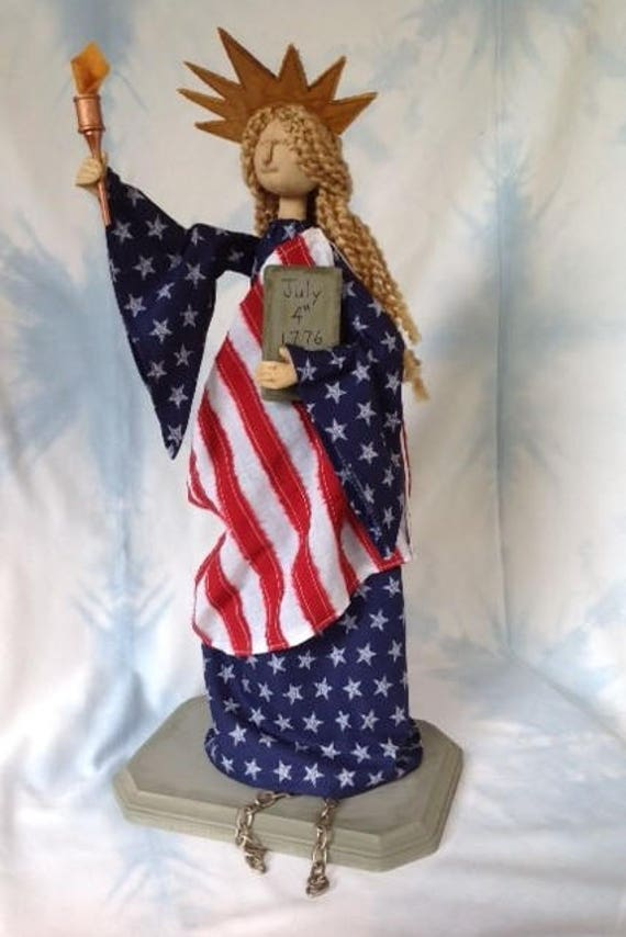Miss Liberty - Cloth Doll E-Pattern America's Lady Statue of Liberty 4 of July