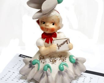 "Napco ""Flower of the Month"" January Snowdrop Figurine"