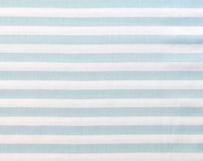 Organic Cotton Fabric - Monaluna Fox Hollow - Stripey Blue