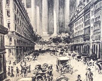 Antique Paris Postcard Carte Postale 1912, Hotel Burgundy Rue Duphot, Church of the Madeleine