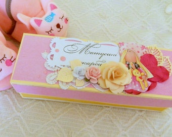Girl memory box Baby casket Pink baby box Expecting mom gifts Mother's treasures box New born baby box New baby gift box Baby shower box