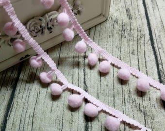2 x m ribbons/trims 08 blue pink tassels