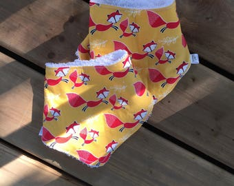 CLEARANCE bib, Fox, animals, baby bib