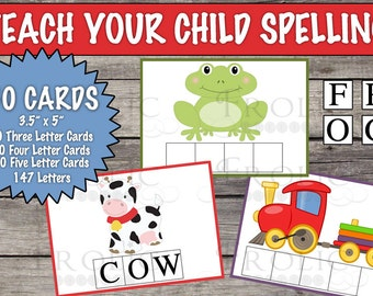 Spelling activities for toddlers and young children INSTANT DOWNLOAD