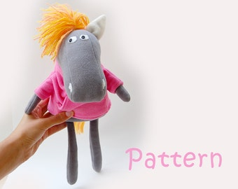 Supplies pattern stuffed horse Soft Toy PDF INSTANT DOWNLOAD