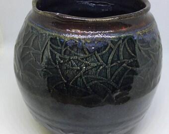 Pottery small vase
