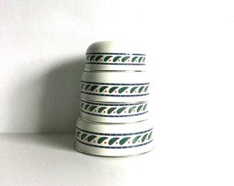 Paisley vintage quartet of enamel nesting bowls