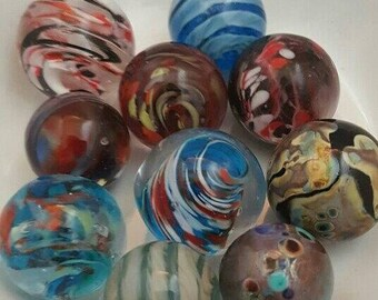 Handmade Glass Marble - Lucky dip, suitable for the World's Biggest Marble Hunt