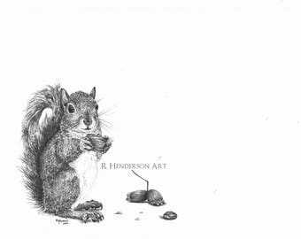 Snickers - Limited Edition Squirrel Print