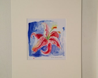 Day Lily Matted Print