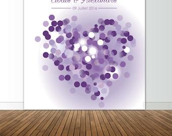 Photocall autographs Lavender heart