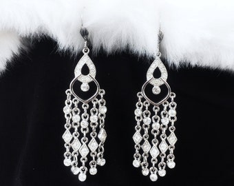 Bridal Earrings/ Crystal Earrings/ Edwardian Earrings/ Swarovski/ Wedding Jewelry/ Bridal Jewelry/ Gorgeous Earrings/ Earrings