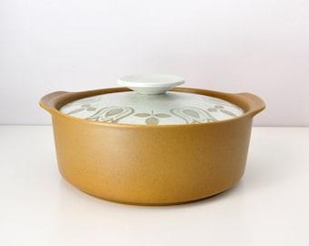 Retro 'Tulip Time' Casserole Dish by Meakin Studios