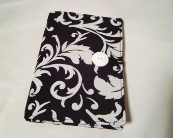 Honey Do List, Grocery List Taker/ Comes with- Note Pad and Pen - Black with White Scrolls
