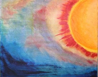 "Original Abstract Oil Painting ""Corona"" 20x20"