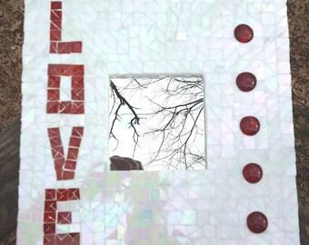 Mosaic Love Wall Plaque Mirror
