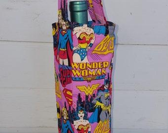 Super Women Wine Bag, Wonder Woman, Supergirl, Batgirl