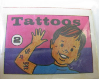 Vintage 1972 CJ Cracker Jack Tattoos no. 2 Prize Premium