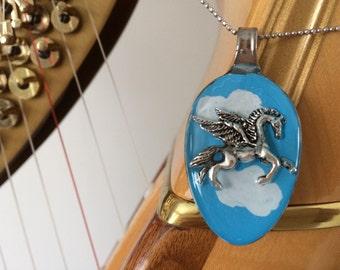 Pegasus resin spoon pendant